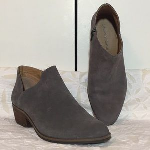 Lucky Brand Grey Suede Booties